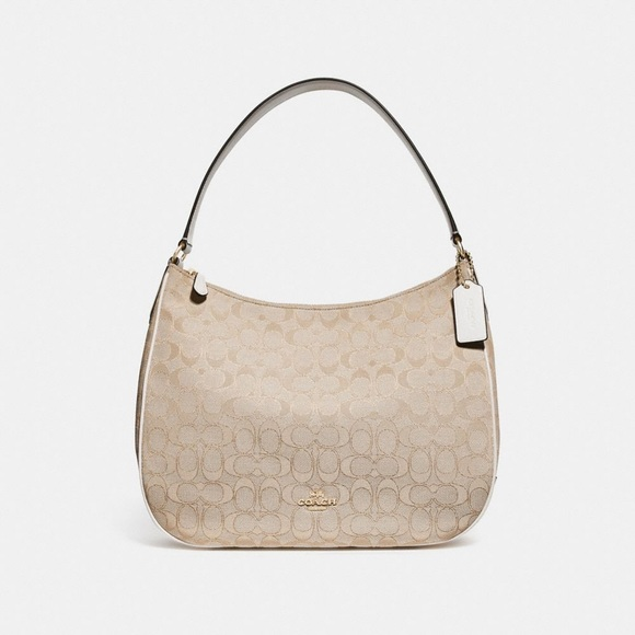 b36ae6d18b Coach Zip Shoulder Bag in Signature Jacquard